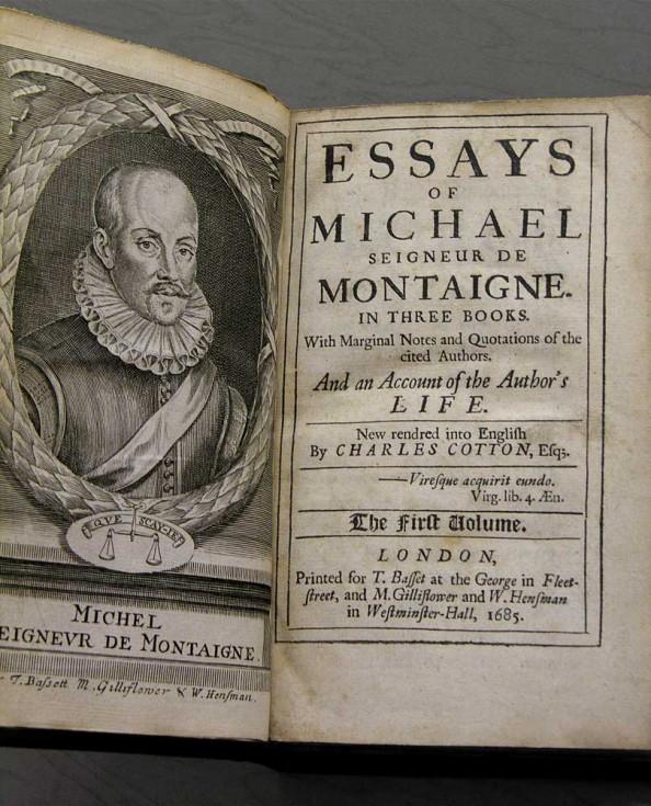 Montainge essays