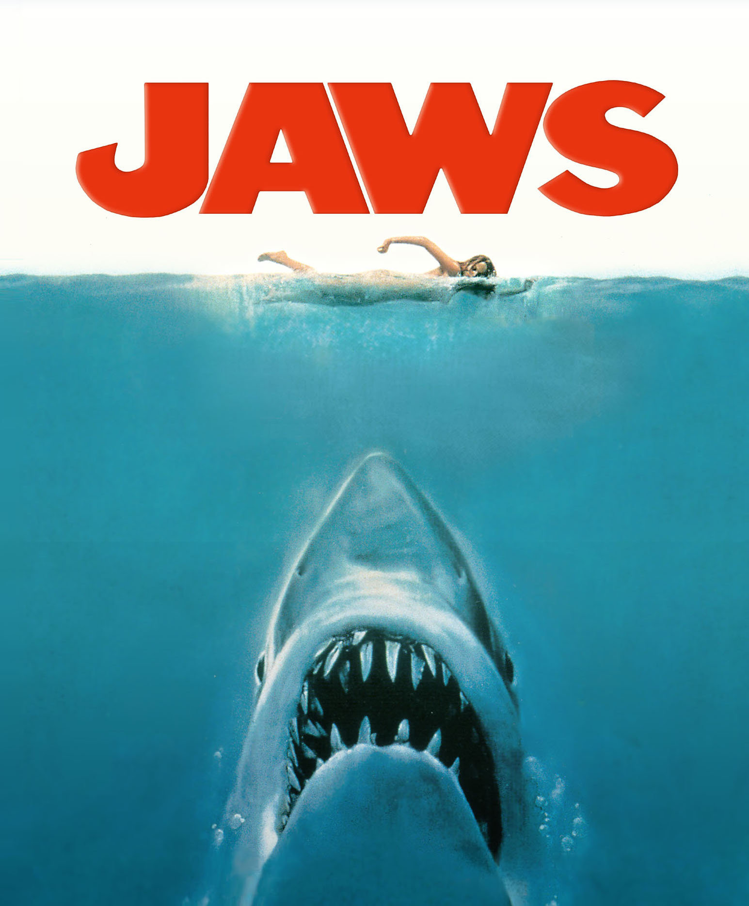 Jaws movie poster in french